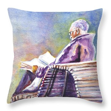 Just Passing The Time Away Throw Pillow