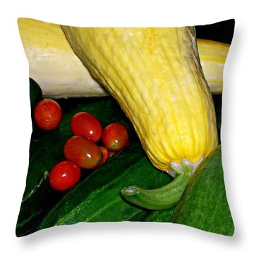 Just Picked Throw Pillow by Barbara S Nickerson