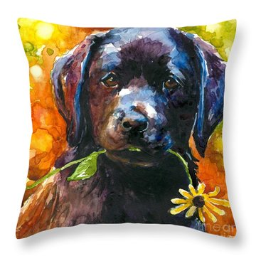 Just Picked Throw Pillow by Molly Poole