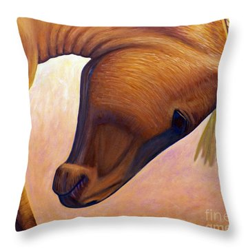 Just Plain Horse Sense Throw Pillow by Brian  Commerford
