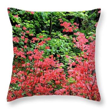 Just Pretty Throw Pillow by Deborah  Crew-Johnson