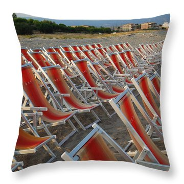 Throw Pillow featuring the photograph Just Relax At The Shore by Caroline Stella