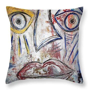 Just Smile Throw Pillow