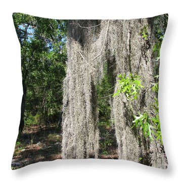 Throw Pillow featuring the photograph Just The Backyard by Greg Patzer
