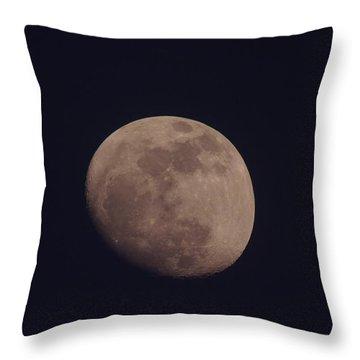 Just The Moon Throw Pillow by Jeff Swan