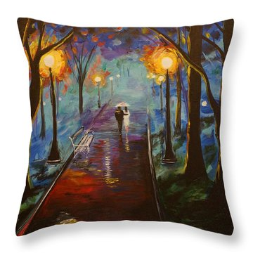 Just The Two Of Us Throw Pillow by Leslie Allen