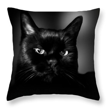 Just Thinking Throw Pillow by Bob Orsillo