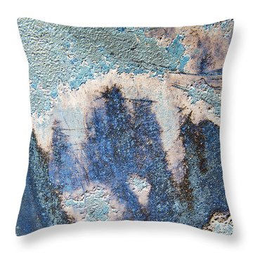 Just This Side Of Blue Moon Abstract Throw Pillow
