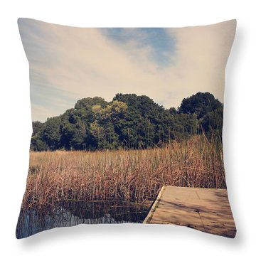 Just To Make This Dock My Home Throw Pillow by Laurie Search