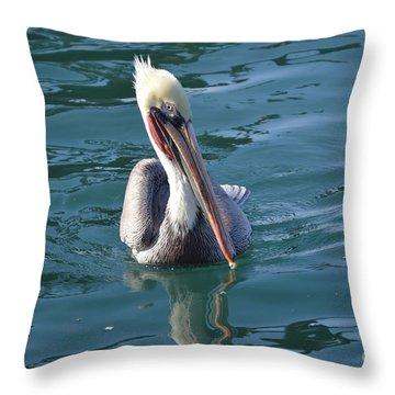 Just Wading Throw Pillow