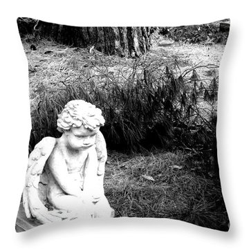 Throw Pillow featuring the photograph Just Waiting For You by Steven Macanka
