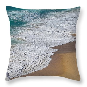 Just Waves And Sand By Kaye Menner Throw Pillow by Kaye Menner