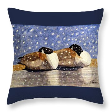 Just We Two Throw Pillow by Angela Davies