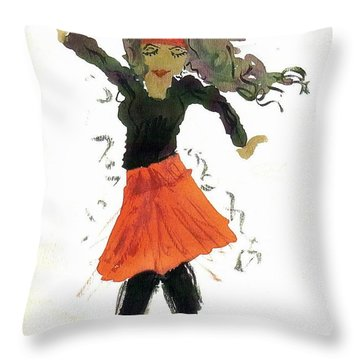 Just Zumba Throw Pillow by Lesley Fletcher