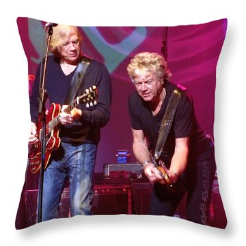 Throw Pillow featuring the painting Justin And John by Melinda Saminski
