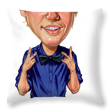 Justin Bieber Throw Pillows