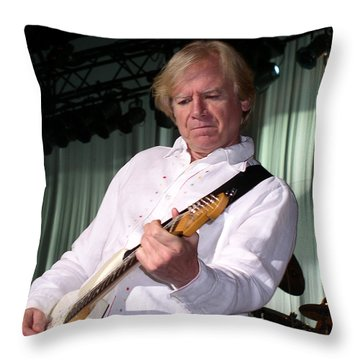 Throw Pillow featuring the photograph Justin Hayward With The Moody Blues by Melinda Saminski