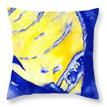 Juvenile Queen Angelfish Throw Pillow