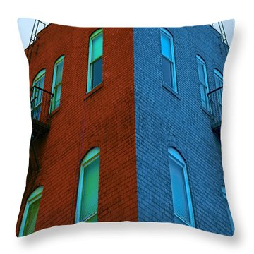 Juxtaposition - Old Building Throw Pillow