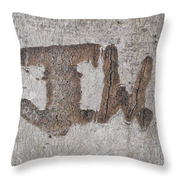 Jw In Bark Throw Pillow by Erick Schmidt