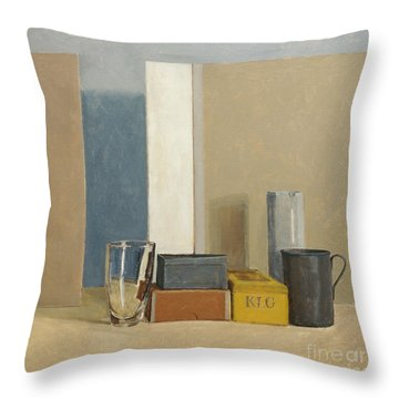 K L G Throw Pillow by William Packer