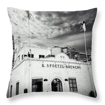 K. Spoetzl Brewery Throw Pillow