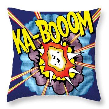 Ka-boom 2 Throw Pillow