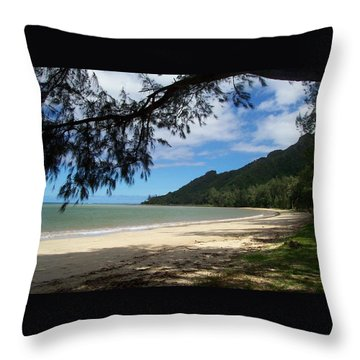 Ka'a'a'wa Beach Park Throw Pillow