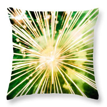 Throw Pillow featuring the photograph Kaboom by Suzanne Luft
