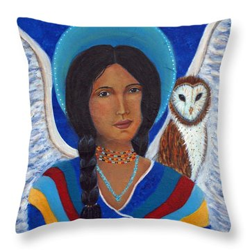 Kachina A Hopi Earthangel Throw Pillow by The Art With A Heart By Charlotte Phillips