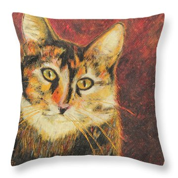Throw Pillow featuring the painting Kaco by Jeanne Fischer