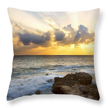 Kaena Point State Park Sunset 2 - Oahu Hawaii Throw Pillow