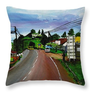 Kaihura Trading Center Throw Pillow