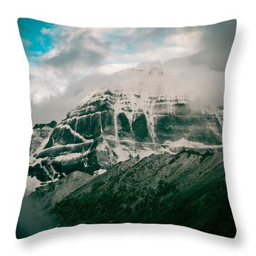 Kailas Mountain Tibet Home Of The Lord Shiva Throw Pillow