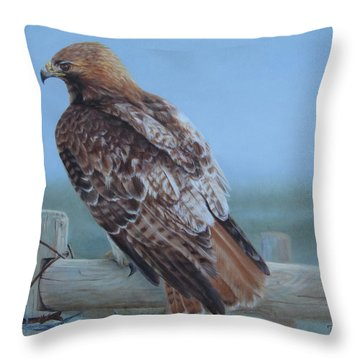 Kaiser's Hawk Throw Pillow