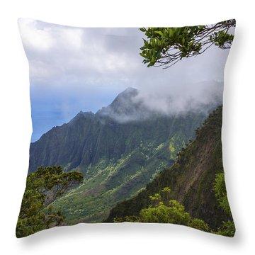 Kalalau Valley 5 - Kauai Hawaii Throw Pillow by Brian Harig