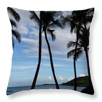 Kalapaki Beach Kauai Throw Pillow