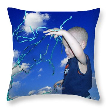 Kaleb Takes Over The World Throw Pillow