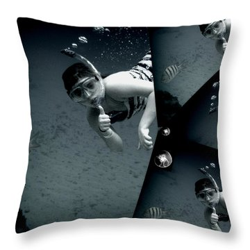 Throw Pillow featuring the photograph Kaledoscopic Mermaid by Danielle  Parent