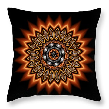 kaleidoscope 1 in Precious Metals Throw Pillow by Faye Symons