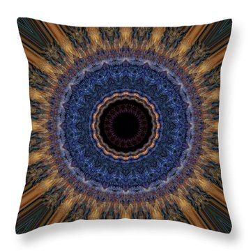 Kaleidoscope 11 Throw Pillow by Tom Druin