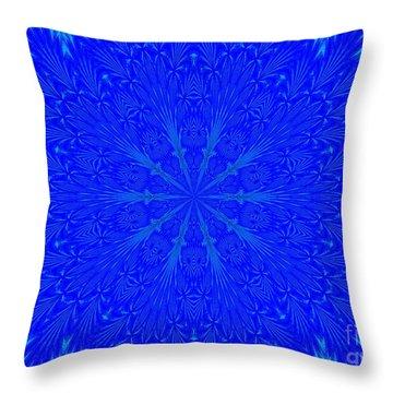 Kaleidoscope Blues Throw Pillow