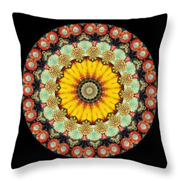 Kaleidoscope Ernst Haeckl Inspired Sea Life Series Triptych Throw Pillow by Amy Cicconi