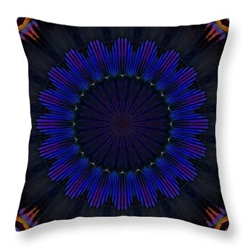 Kaleidoscope Feathers Throw Pillow by Suzanne Handel