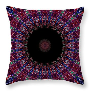 Kaleidoscope Fireworks Throw Pillow by Suzanne Handel