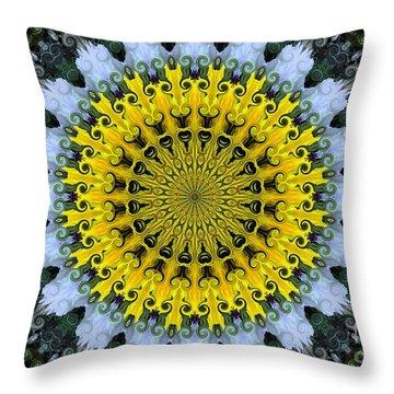 Kaleidoscope Flowers Throw Pillow by Suzanne Handel