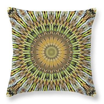 Kaleidoscope Fungus Throw Pillow