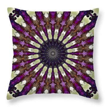 Kaleidoscope Iris Throw Pillow