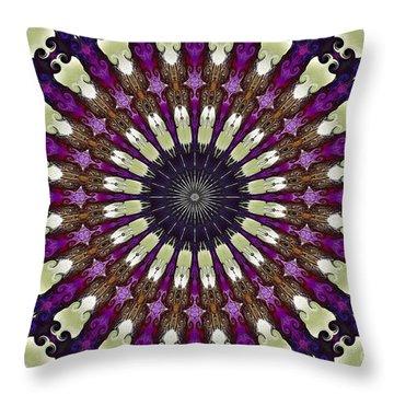 Kaleidoscope Iris Throw Pillow by Suzanne Handel