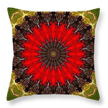 Kaleidoscope Leaves Throw Pillow